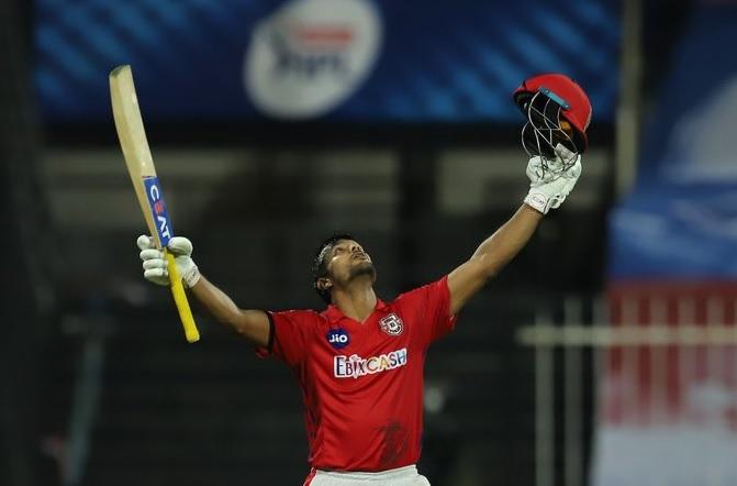 T20 League: Mayank agrawal ni tofani sadi ane rahul ni aaddhi sadi KXIP no 2 wicket e 223 run no score