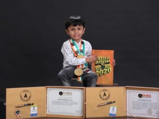 Ahmedabad na aa 4 varsh na balak nu record breking knowledge India book of records ma banavyu sthan