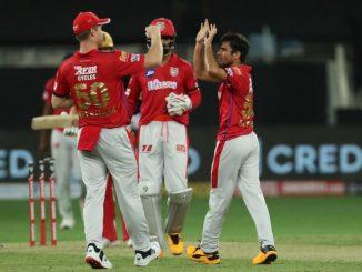 T 20 League Punjab na bowlers same virat sena dhavst KXIP no 97 run e vijay