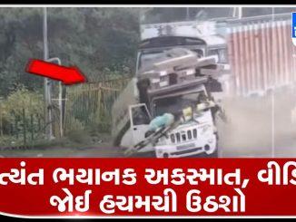 speeding-truck-runs-over-woman-at-railway-crossing-madhya-pradesh-bhayanak-aatyant-bhayanak-accident-video-joi-hachmachi-uthsho