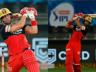 T-20 League RCB ni team e damdar sharuvat sathe 5 wicket e 163 run khadkya devdut ane dvillars ni aaddhi sadi