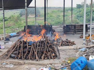 Corona's crooked Bharuch's only cove crematorium began to shrinka