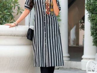 Stripes kurti fashion will never be outdated