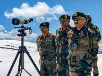 Army chief arrives in Ladakh amid border dispute with China