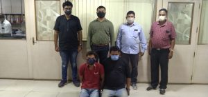 Two persons from Surat were caught with 100 grams of drugs