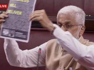 YSRCP MP in Rajya Sabha boasts Congress election manifesto in agriculture bill debate