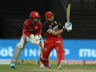 T20 league RCB e KXIP same 171 run fatkarya kohli na 48 run murugan ane shami ni 2-2 wicket
