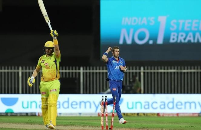 T20 league CSK e 4 wicket gumavi 179 run karya duplesis ni fifty jadeja na 13 ball ma 33 run