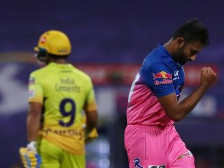 T20 league mahatva ni match ma j CSK na batting order fadakta RR jitva mate 126 run nu saral lakshyank Jadeja na 35 run