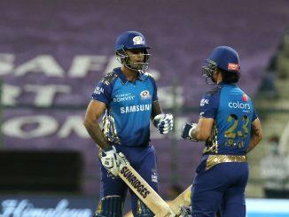T 20 league hardik ni dhamakedar fifty sathe mumbai e 5 wicket gumavi 195 run khadkya jofra archar anr gopal e 2-2 wicket jadpi
