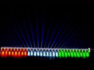 PM Modi inaugurates dynamic dam lighting for Sardar Sarovar Dam in Kevadia Colony Narmada