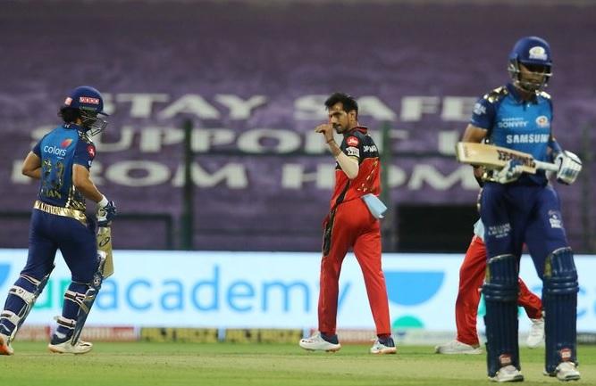 T20 league Suryakumar yadav na annam 79 run na dum par RCB ne 5 wicket MI e haravyu chahal ane siraj 2-2 wicket jadpi