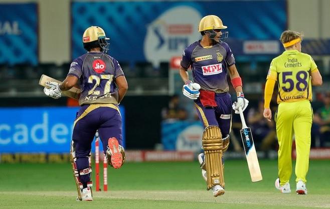 T20 League CSK same KKR e 5 wicket gumavi 172 run no score karyo nitish rana na 87 run