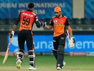 T20 league Manish ane vijay ni fifty ne lai SRH ni 8 wicket e shandar jit RR na Jofra archar 2 wicket jadpi