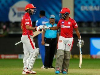 T20 league KXIP e season na king ganata dehli ne 5 wicket thi parast karyu dhavan ni sadi puran ni fifty same aede gai