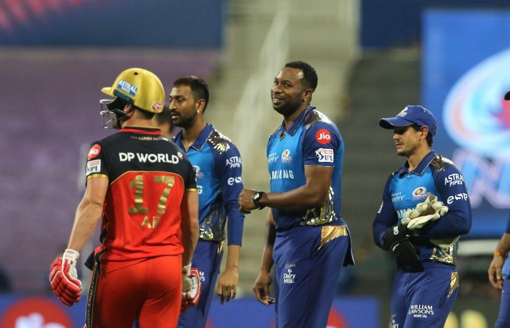T20 league MI Same RCB e devdutt ni shandar fifty sathe 164 run karya Bumrah ni 3 wicket