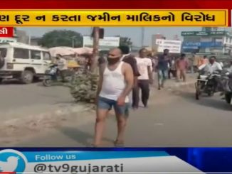 Owner stages unique protest for removal of illegal construction over his land in Chhota Udepur