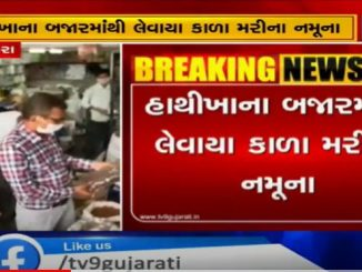 Health team raids in Hathikhana market Vadodara