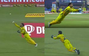 Mahendra Singh Dhoni caught Shivam Mavi's brilliant catch
