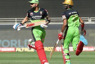 T20 League CSK same RCB e 6 wicket gumavi 145 run karya Kohli ni fifty sam karan ni 3 wicket