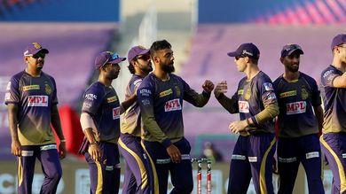 T20 league KKR na 194 run na lakshya same DC ni 59 run e karmi har varun ni 5 ane pet cumins ni 3 wicket