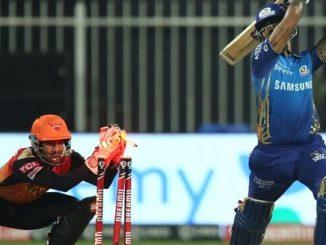 T20 League SRH same MI 8 wicket gumavi ne 149 run no score karyo sandip sharma ni 3 wicket