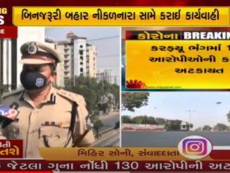 Adequate police in jail, violation of curfew, breach of declaration