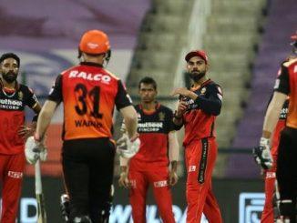 T20 league RCB na sapnao ne SRH na willamsan ni fifty e rodi didhu SRH qualifiyar match ma pohchyu