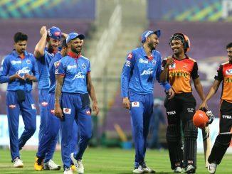 T20 league DC SRH ne 17 run e haravi final match ma pohchyu rabada e 4 ane stoinish ni 3 wicket