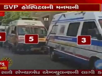 Coronavirus Outbreak Footage shows ambulances queue to enter hospitals in Ahmedabad