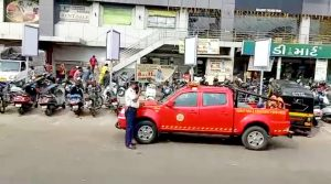 Corona transition in Surat, fire brigade feels at work, appeals to people through loudspeakers to be vigilant