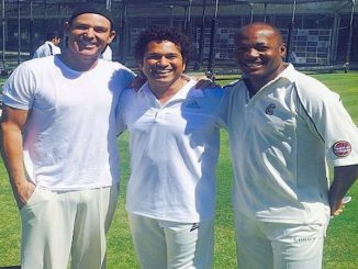 A heart-wrenching post by Shane Warne sharing a picture with Sachin and Lara