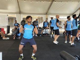 Ind vs aus australia pohcheli team india e corona parikshan karya bad practice sharu kari didhi juvo tasviro