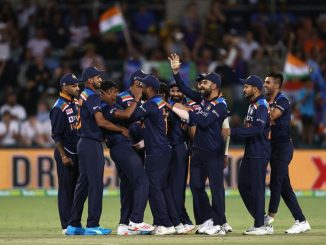 In the first T-20, India won by 11 runs, Chahal and Natarajan took three wickets each